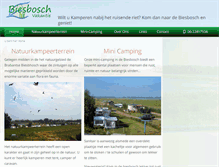 Tablet Preview of biesboschvakantie.nl